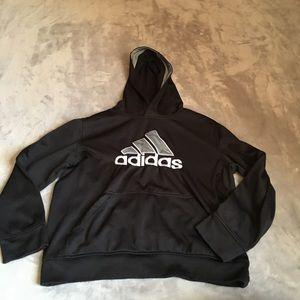 adidas Shirts & Tops - Adidas black grey youth hoodie size medium